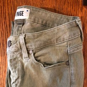 Army Green Paige Jeans
